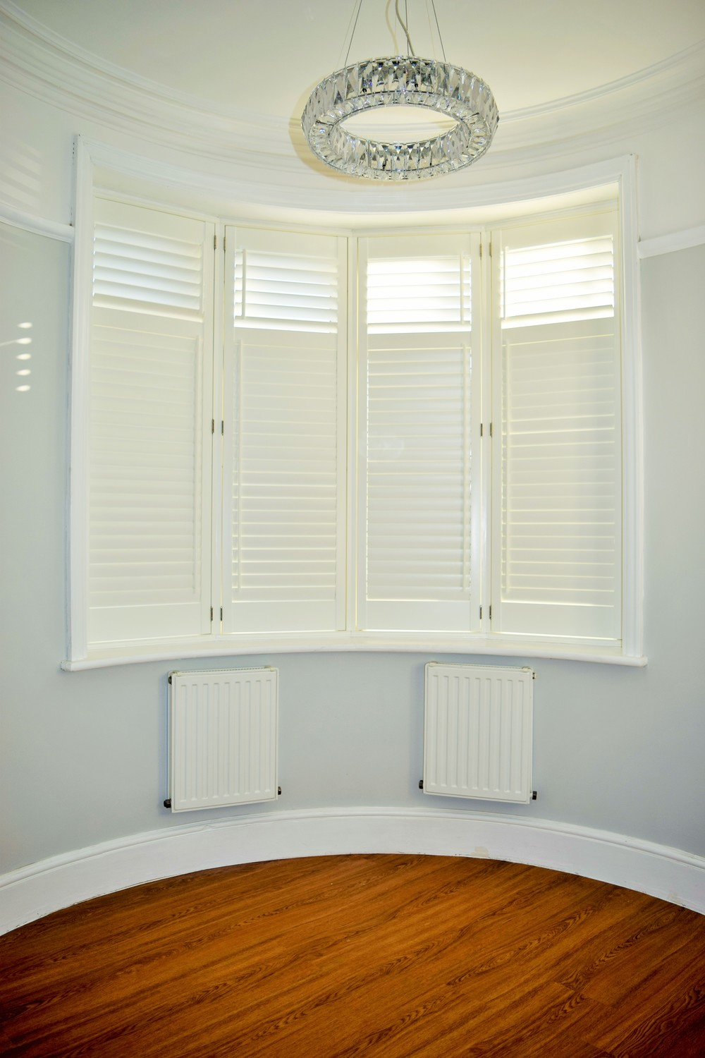 Round bay window shutters Poole