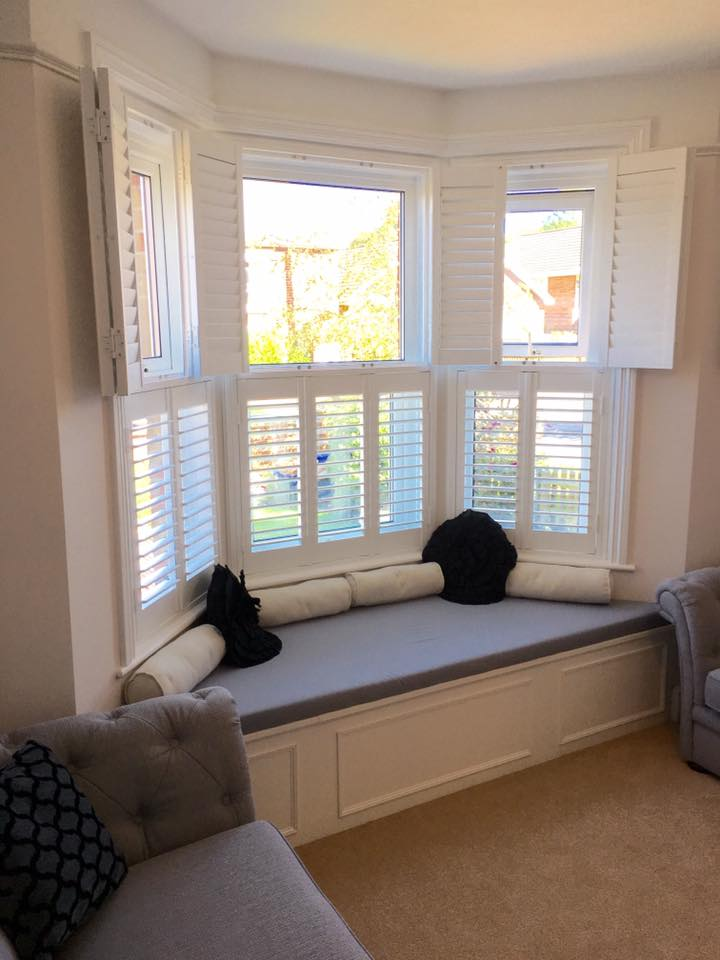 Tier on tier bay window plantation Shutters New Forest