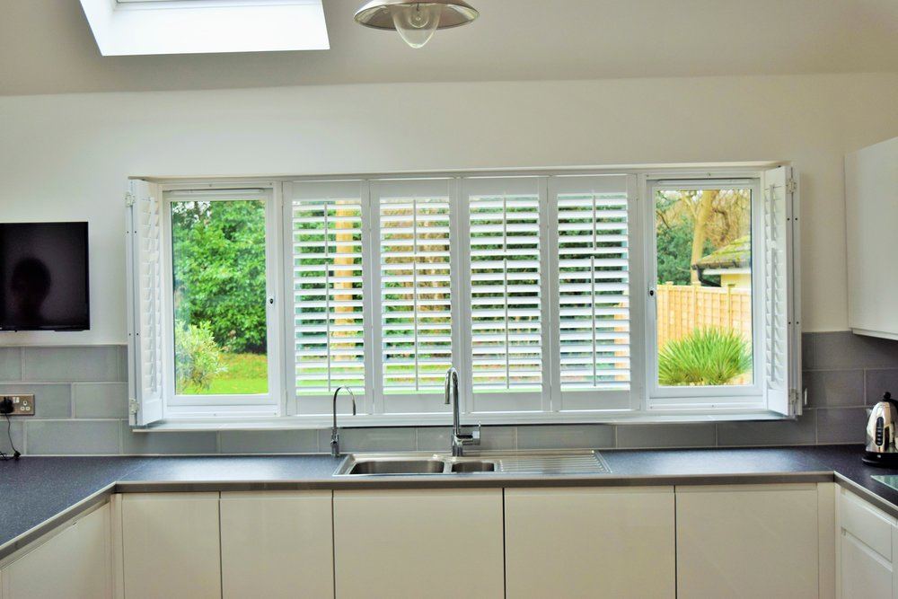 Plantation shutters in kitchen Christchurch