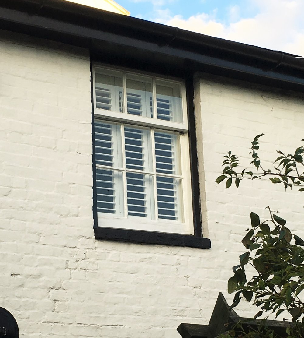 Plantation shutters Outside view Blandford Forum Dorset.JPG