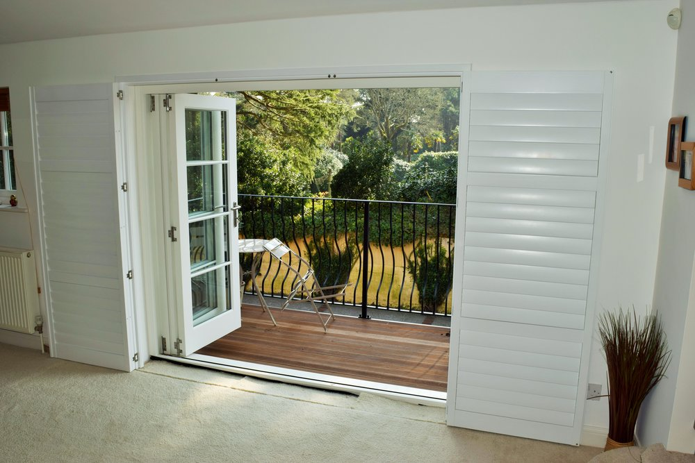 Patio door shutters Canford Cliffs Poole