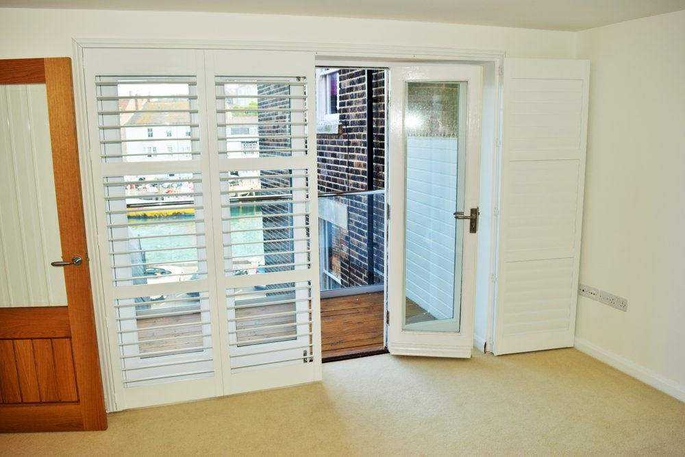 Large patio door shutters Weymouth