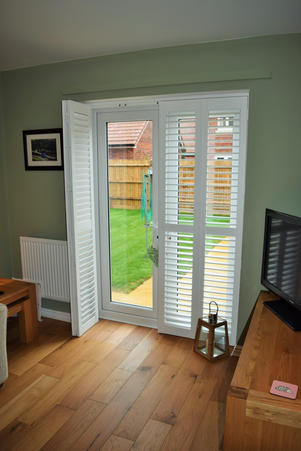 Patio door shutters Wimborne, Dorset