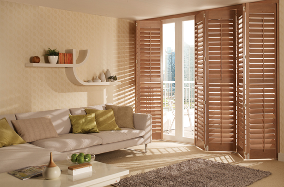 wooden plantation shutters patio doors