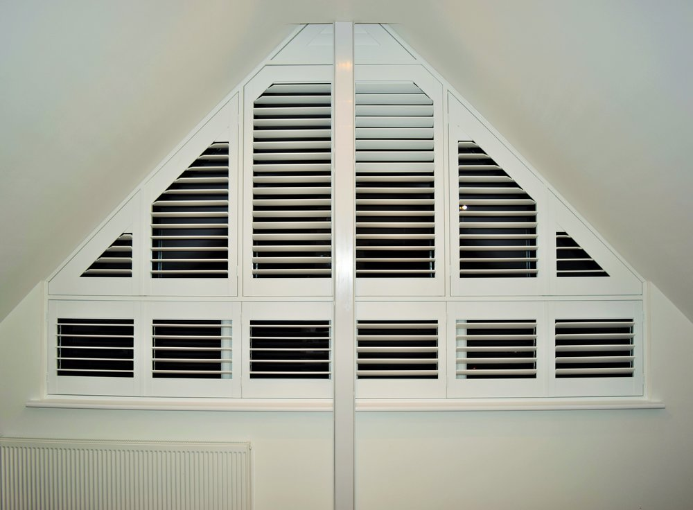 Triangle shaped shutters Bournemouth Poole Dorset