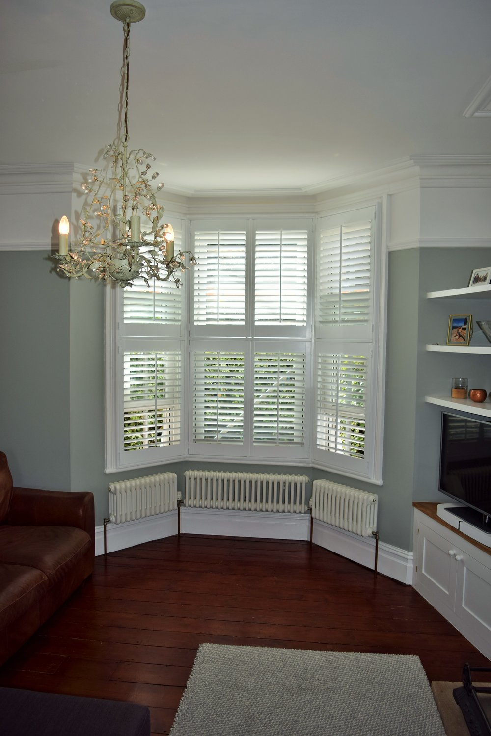 Tier on tier bay window shutters Bournemouth