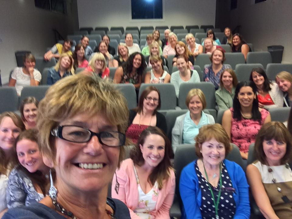 'Selfie' taken with student midwives at Carlisle University in September