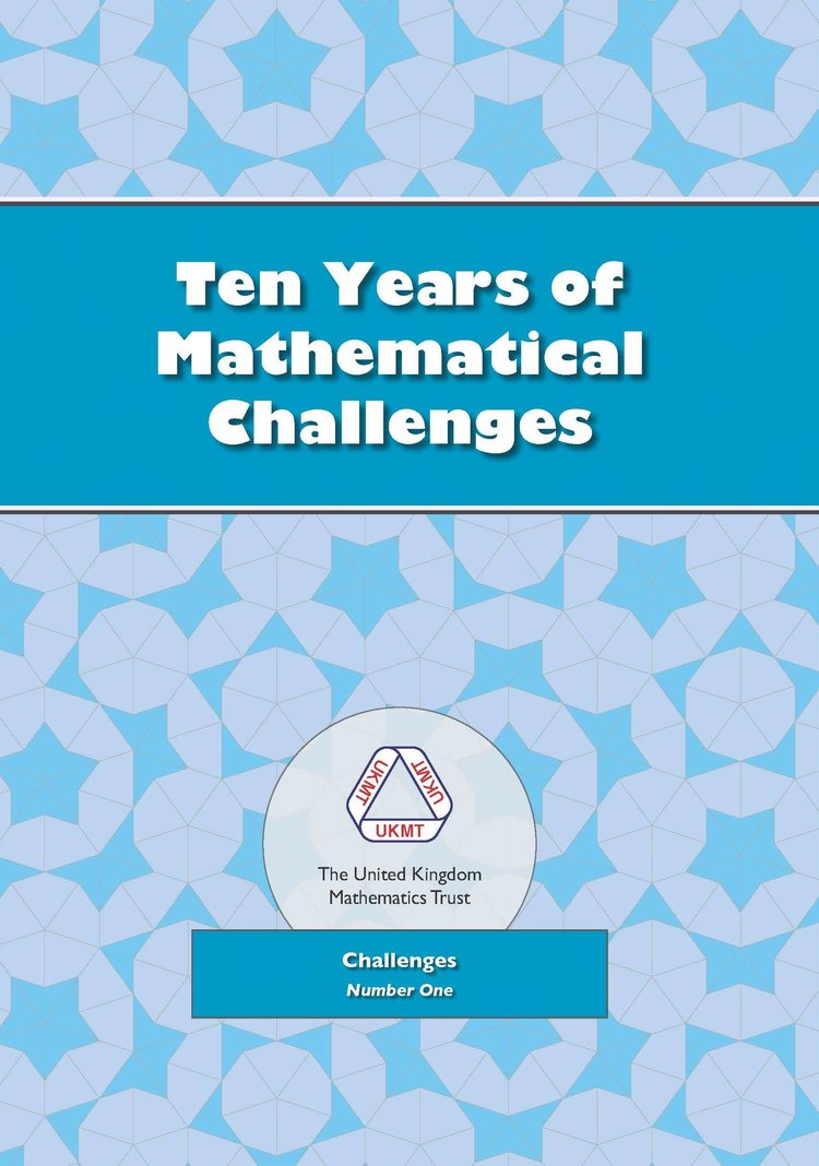 UKMT Books — UK Mathematics Trust