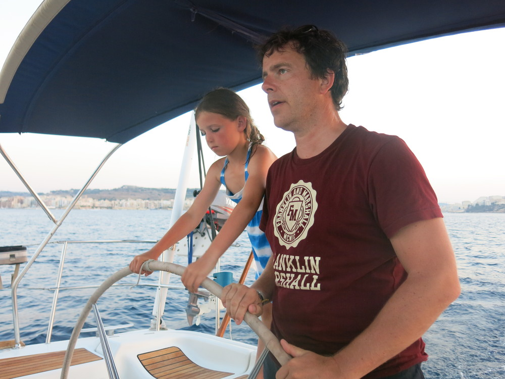 Malta sailing experience guests trying out sailing.JPG