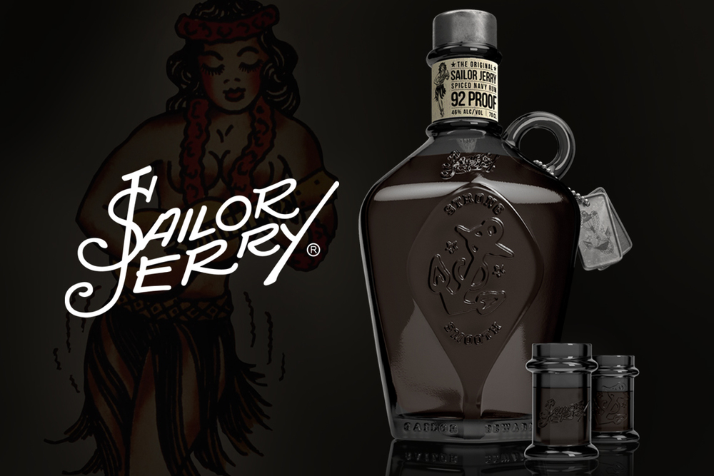 Sailor Jerry - 3D Bottle & Label Design