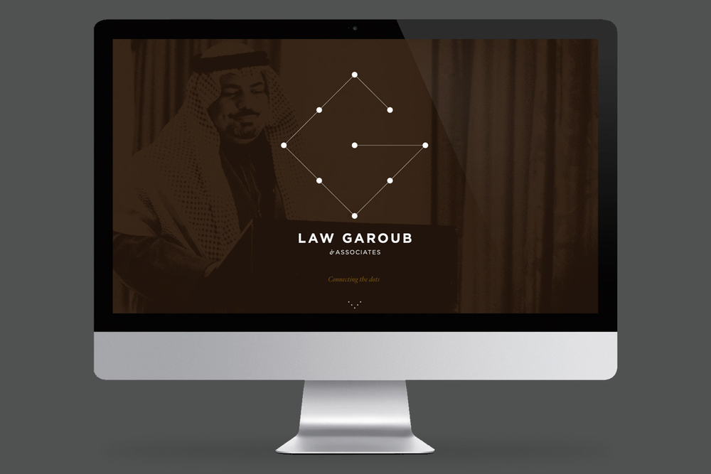 Law Garoub Website (Responsive Wordpress) - Homepage