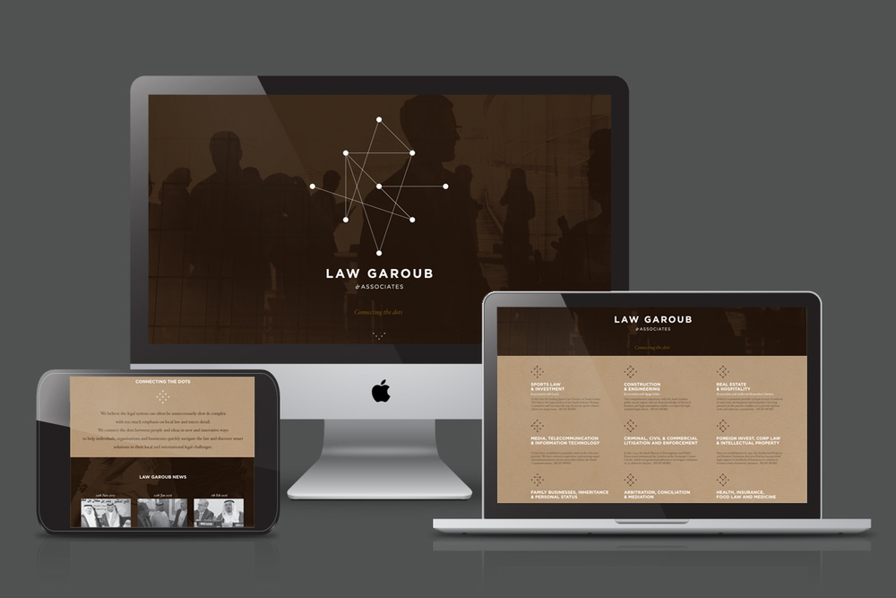 Law Garoub Website (Responsive Wordpress) - Pages
