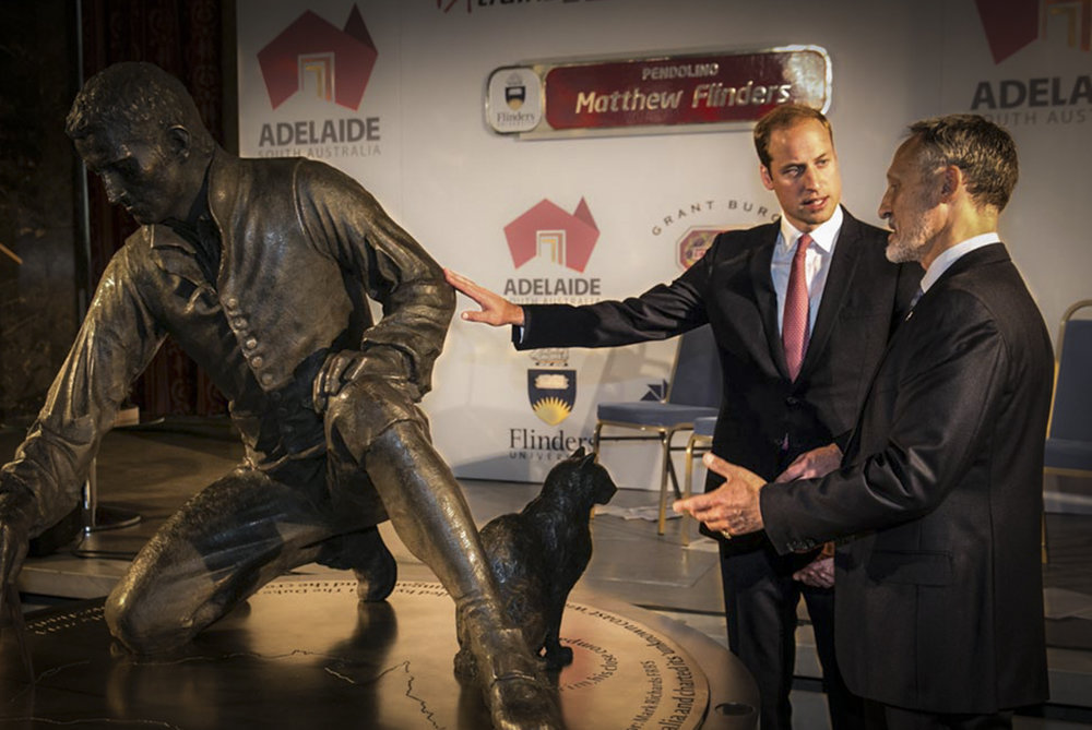 - 'I should like to congratulate the sculptor, Mark Richards, for producing a beautiful statue and for telling the story of Captain Flinders with such elegance.'The Duke of Cambridge