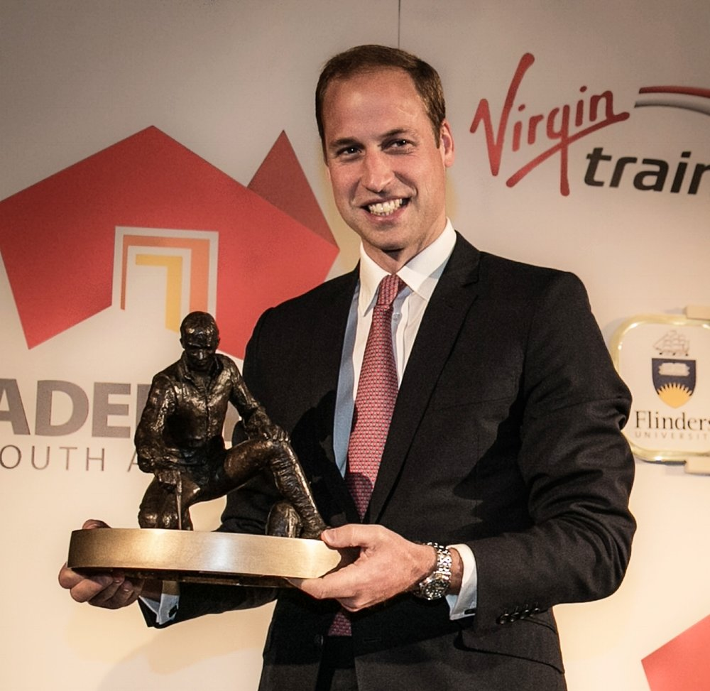 - The Duke of Cambridge with his limited edition bronze maquette of Matthew Flinders.  To enquire about purchasing one of the remaining edition numbers, please contact the Australia High Commission via the