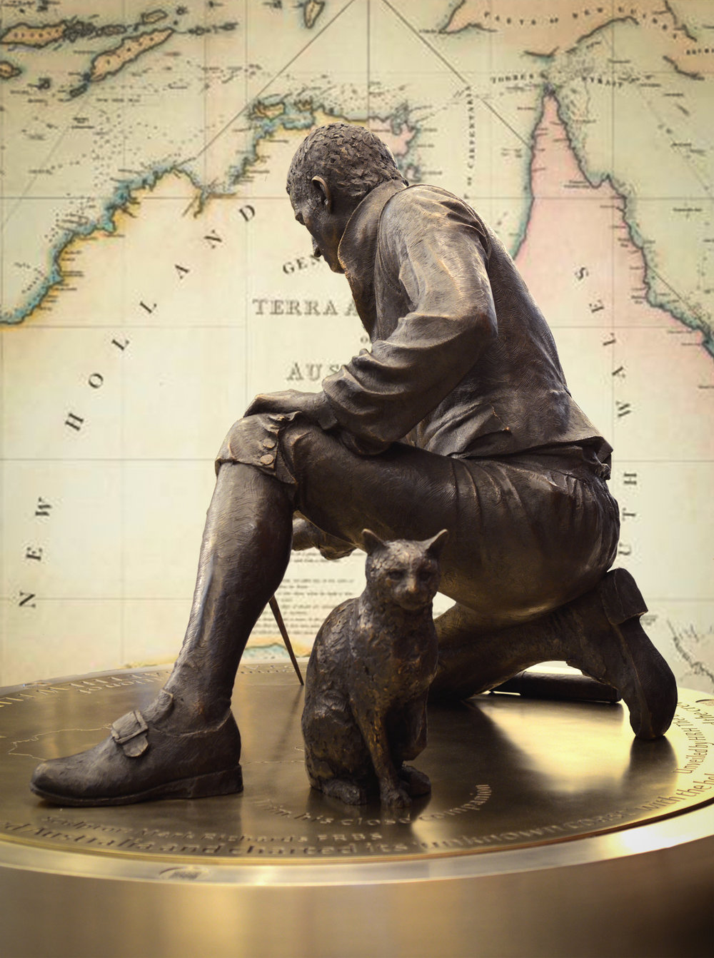 - 'The Steering Committee would like to acknowledge the work of the genius artist who is Mark Richards FRSS. Not only has he sculptured an extraordinarily beautiful statue on time and within budget but he has been an absolute delight to work with. Utterly flawless!'The Matthew Flinders memorial statue committee.