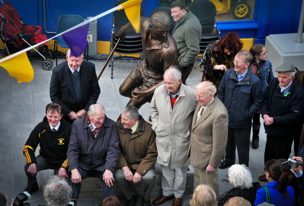 'Growing up in the '50's Nickey Rackard was our hero, the dashing figure that led the way for Wexford. Part of the golden team which brought Wexford to the hurling heights in the '50's Nickey in the words of Tom Williams' tribute song,