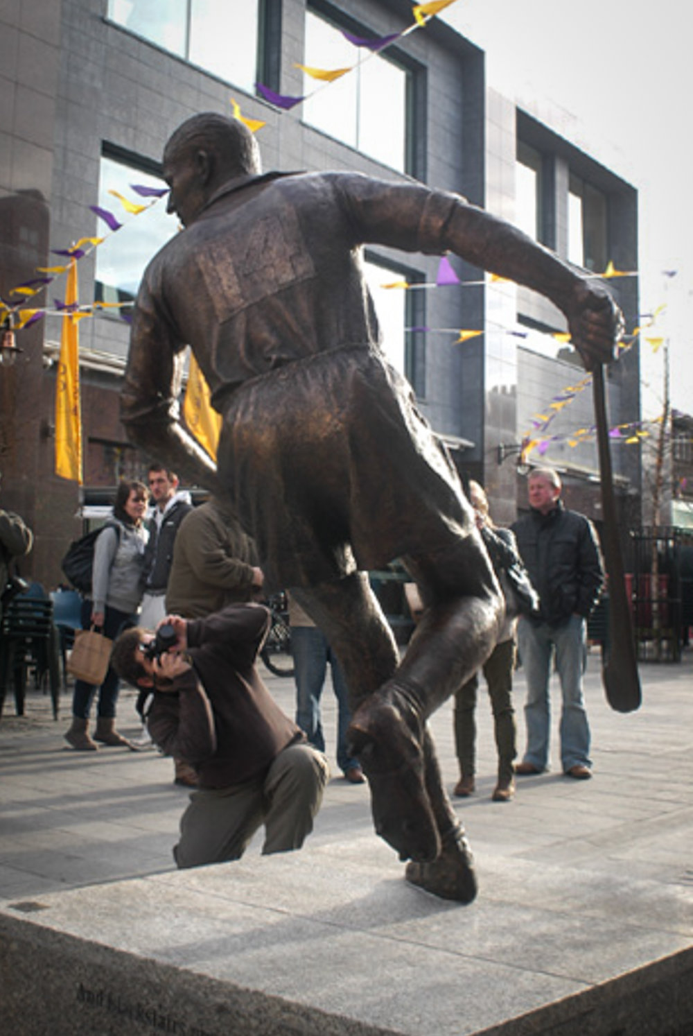 - 'Mark has managed to capture the energy and movement just prior to an explosive drive for goal and the release of what was termed a Rackard special. While the statue bears the image of our father, it is also more than just a representation of one man. As an image of him, himself, it represents the hurling great that he was; the leader, goal scorer, the sportsman. It captures the true grit and determination as he eyes up a typical goal scoring opportunity. He had ferocious determination, power, strength and a will to win'.Bobby Rackard