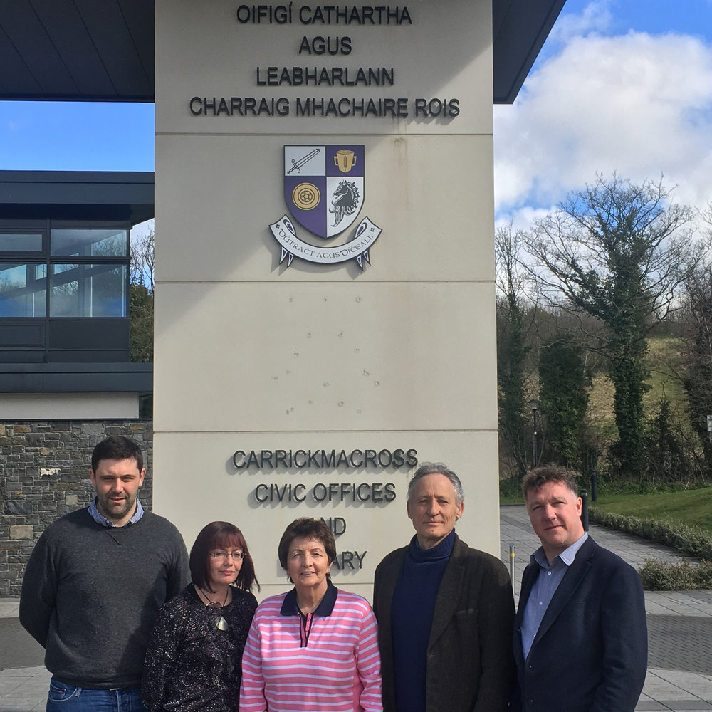 6th April 2018 - A meeting with the team I will be working with; Craig Connolly, Orlagh Meegan-Gallagher, Margo O'Donnell and Greth McMahon at the Civic Offices to plan a schedule for the sculpture.