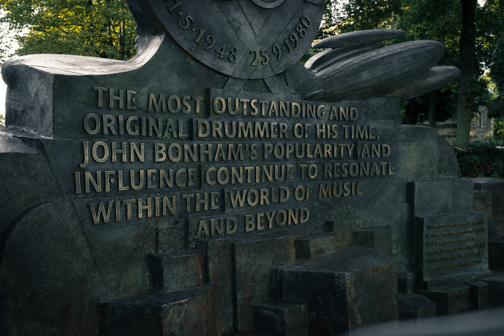 John Bonham memorial sculpture - 2018 Detail