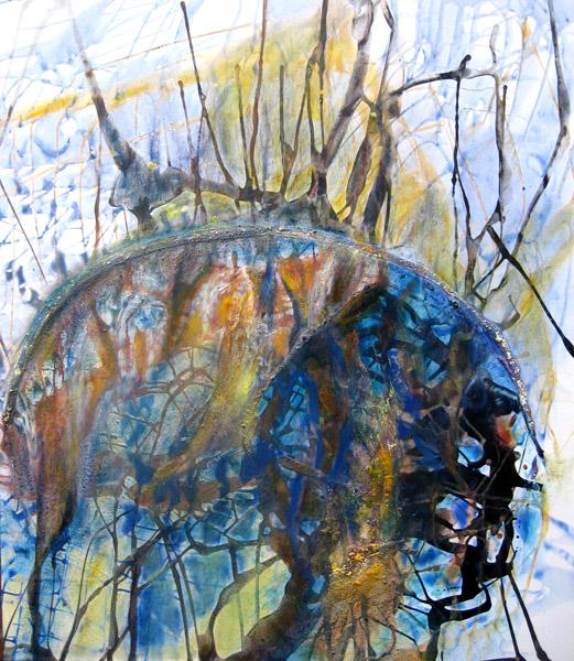 Murmure souterrain, 122X140cm, 2007