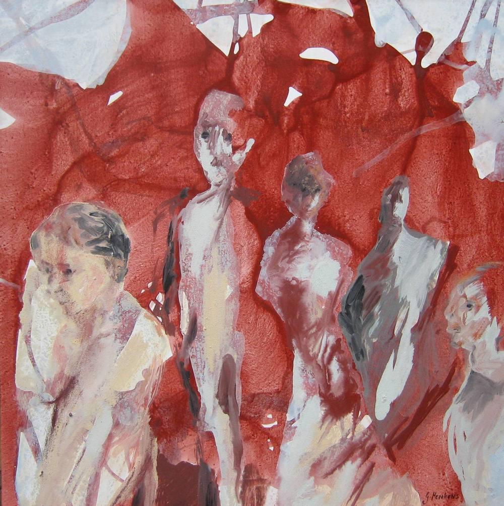 Poétique du feu, 60 X 60cm, 2008
