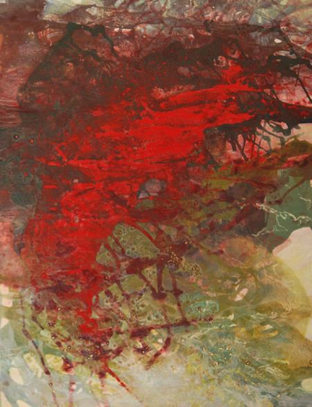 Couchant enflammé,120 x 80cm, 2009