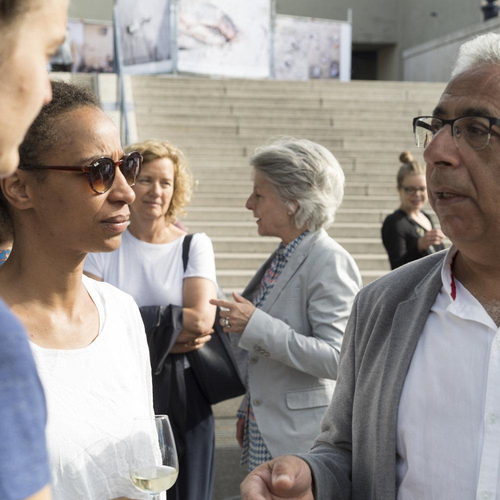 Kadiatou Diallo und Nabil Boutros am IAF Basel 2017 im Gespräch. Juni 2017