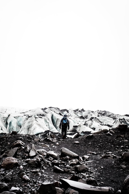 Solheimajokull Glacier.