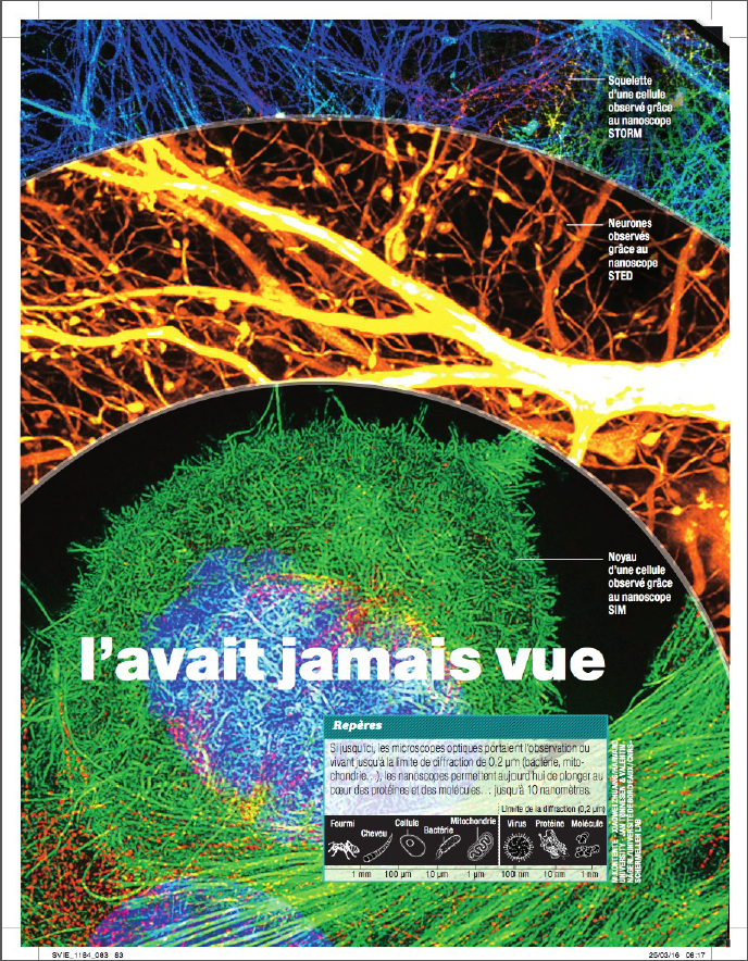 Coverage on nanoscopy in French popular science journal Science & Vie (May-2016)
