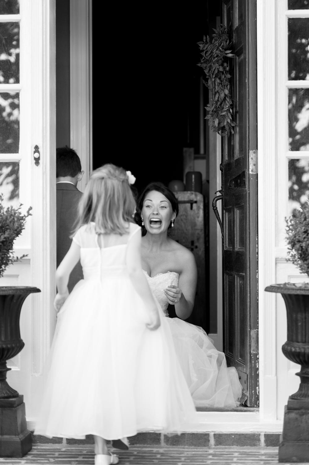 Bride and flower girl Annapolis wedding photographer