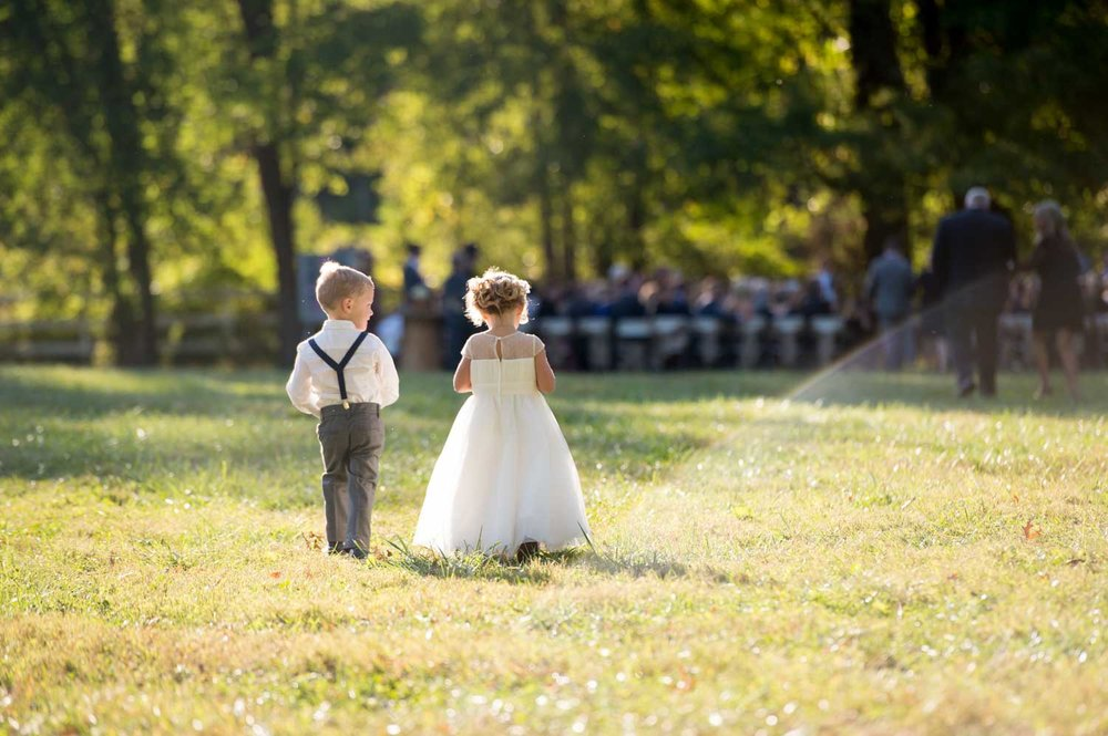 Flower girl and ring bearer wedding photography