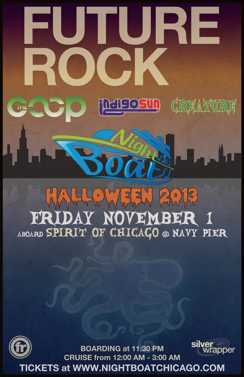 Future Rock @ Nightboat Halloween Boat Cruise in Chicago, IL 11/1