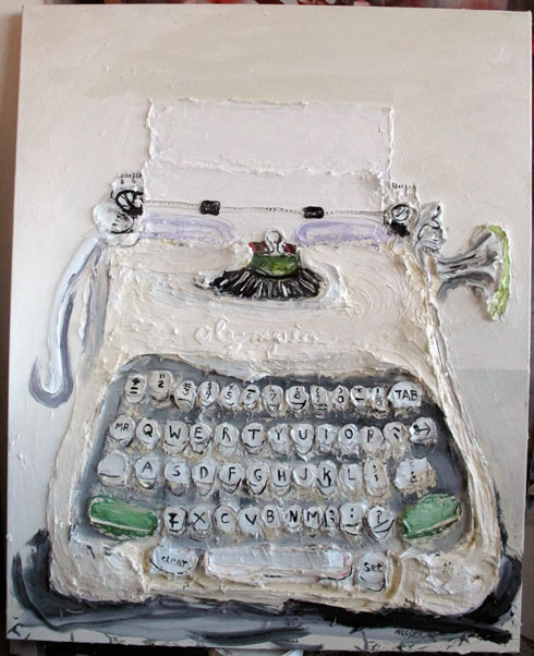 Typewriter , (white)