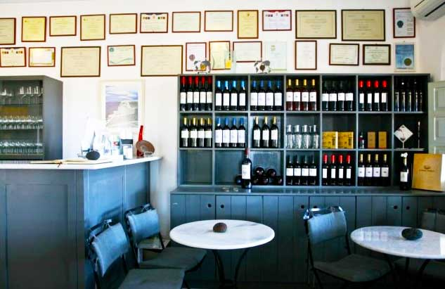 The Wine Shop of Domaine Sigalas winery