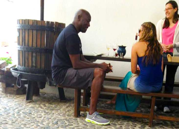 Yes…his Air-ness Michael Jordan visited Gavalas Winery back in 2013!