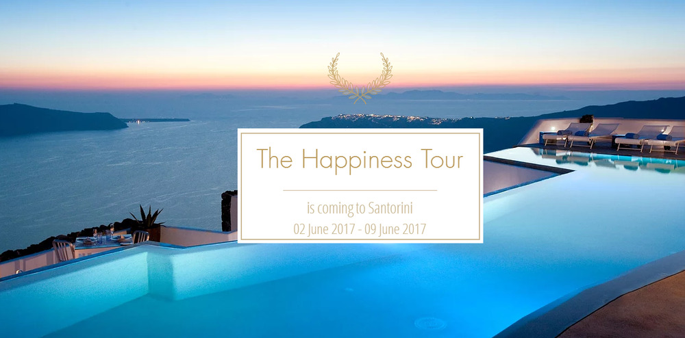 The Happiness Tour Santorini 2017