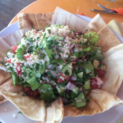 Tranquilo has some amazing veggie plates…the perfect beach food!