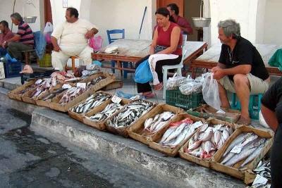 Market at Fira, Santorini