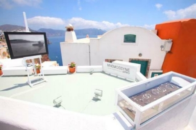 Mnemossyne Art Gallery in Oia,Santorini. Picture from TravelMagma