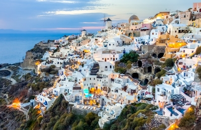 Santorini is famous across the world for its pristine white buildings, windmills and blue domes…