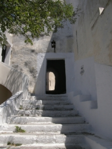 "The entrance to the castle of Pyrgos, Santorini. Also known as ""The Door""."