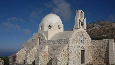 Aghii Apostoli Church in Pyrgos, Santorini. It is worth the short walk.
