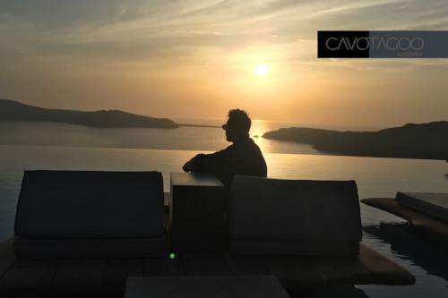 Haris G. at Cavo Tagoo Santorini