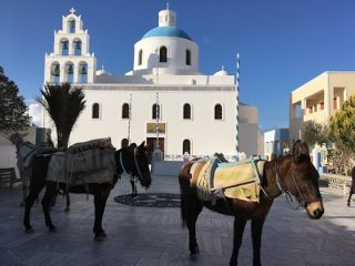 Church of Panagia in the main square of Oia, Santorini