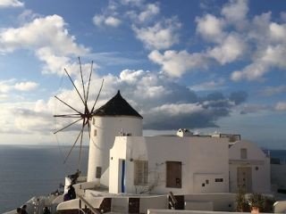 Windmill in Oia, Santorini. Picture from  @SantoriniPlus
