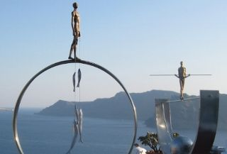 Oia Treasure's Art Gallery in Oia, Santorini. Picture from their Official Website