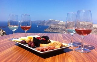 Venetsanos Winery in Santorini offers good food, good wine and good views