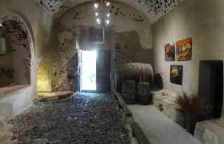 Artspace displays Santorinian art in an old winery