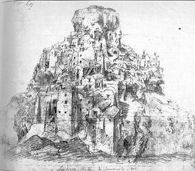 Skaros Castle Santorini- 17th century (Benaki Museum Athens)