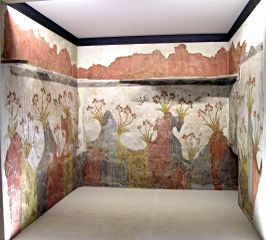 Spring Fresco, Akrotiri, Thira   By Marsyas (2007), CC BY 2.5